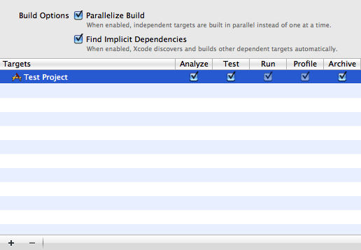 Edit scheme build view