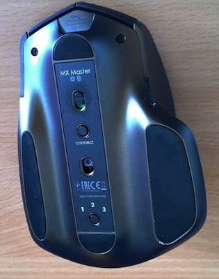 the bottom of the MX Master mouse