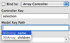 Auto completion within Interface Builder binding panel